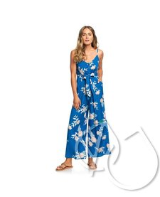 Wheel And Palms Strappy Wide-Leg Jumpsuit