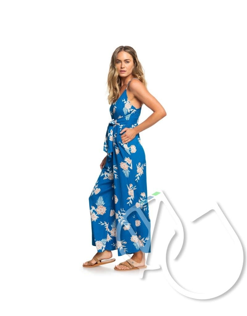 Roxy Wheel And Palms Strappy Wide-Leg Jumpsuit