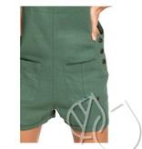 Roxy Roxy Compass Direction Linen Dungaree Shorts