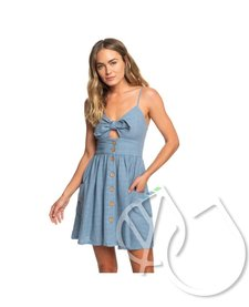 Roxy Under The Cali Sun Knot-Front Strappy Dress