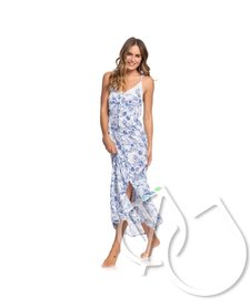 Roxy Hot Summer Lands Strappy Button Through Maxi Dress