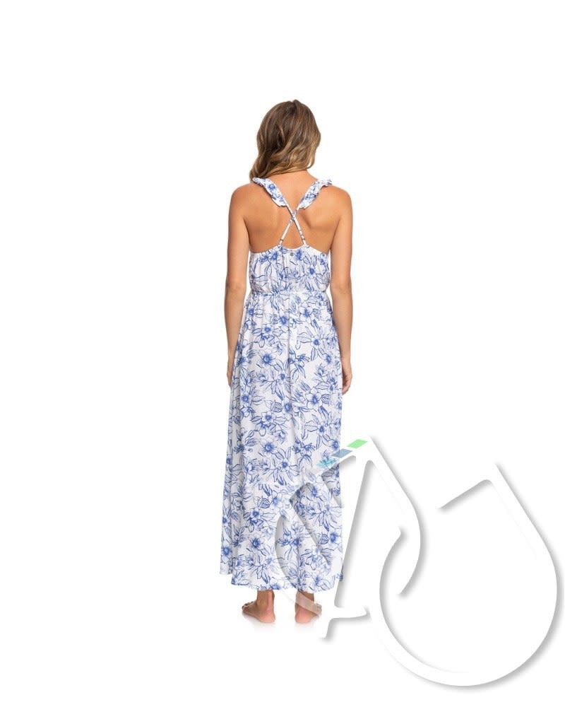 Roxy Roxy Hot Summer Lands Strappy Button Through Maxi Dress
