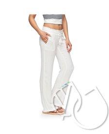 Roxy Oceanside Flared Linen Pants -white