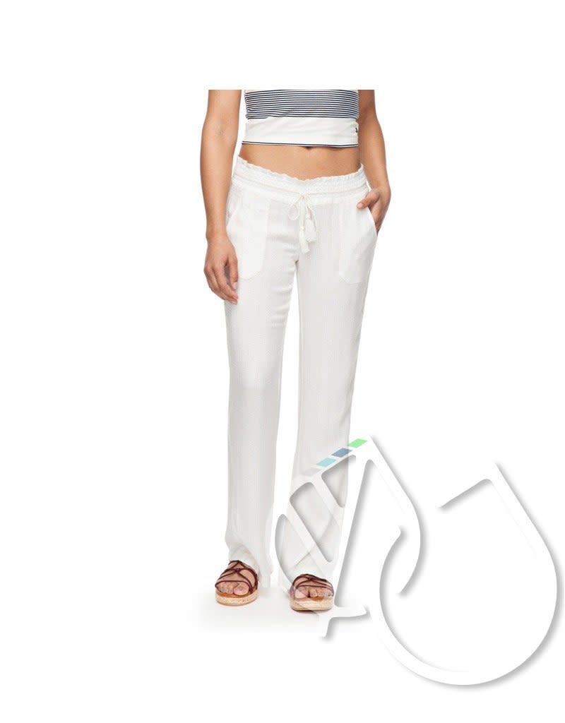 Roxy Roxy Oceanside Flared Linen Pants -white