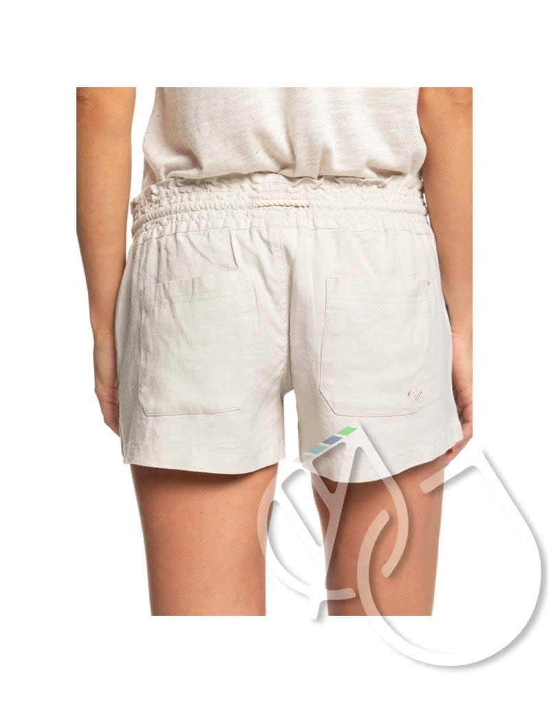 Roxy Roxy Oceanside Linen Beach Shorts -STONE (sez0)