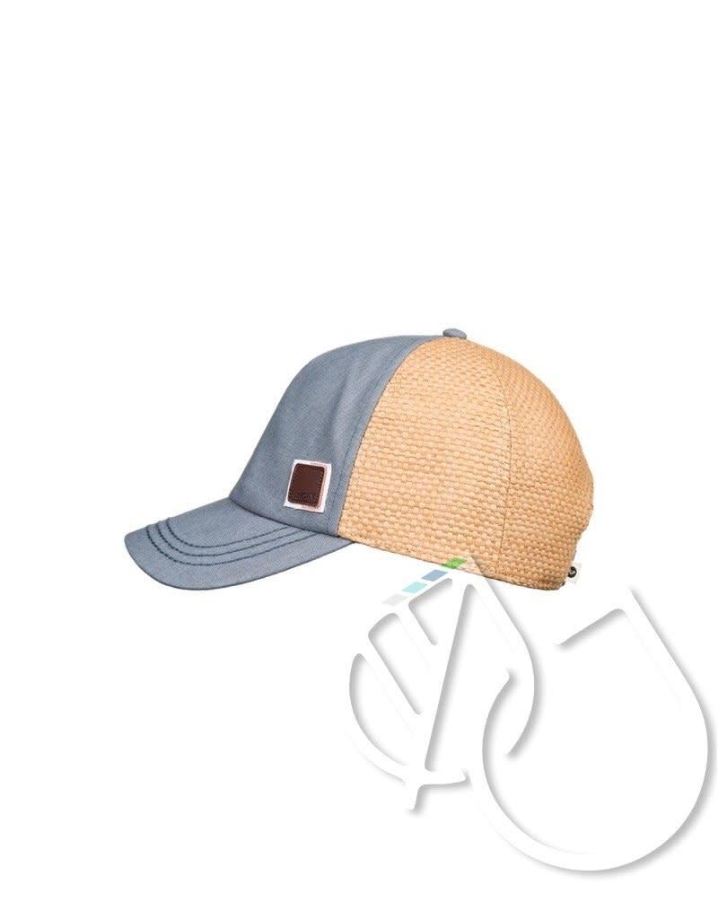 Roxy Roxy Incognito Straw Trucker Hat -BRIGHT WHITE S RETRO VERTICAL (wbb4)
