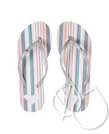 Roxy Bermuda Flip-Flops -BLUE/WHITE (bwt)