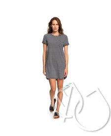 Roxy Walking Alone Short Sleeve T-Shirt Dress -ANTHRACITE RE MARINA STRIPES (xkwk)