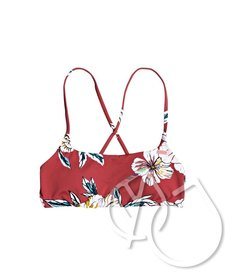 Roxy Printed Beach Classics Bralette Bikini Top -DEEP CLARET SWIM FULL SEPT (rqh7)