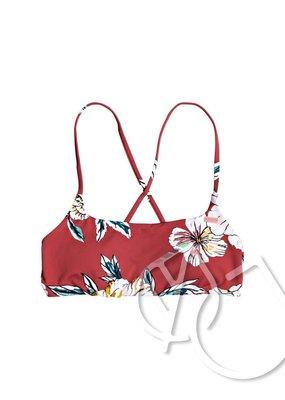 Roxy Roxy Printed Beach Classics Bralette Bikini Top -DEEP CLARET SWIM FULL SEPT (rqh7)