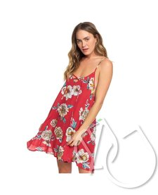 Roxy Printed Beach Classics Strappy Dress -DEEP CLARET SWIM SEPT (rqh8)