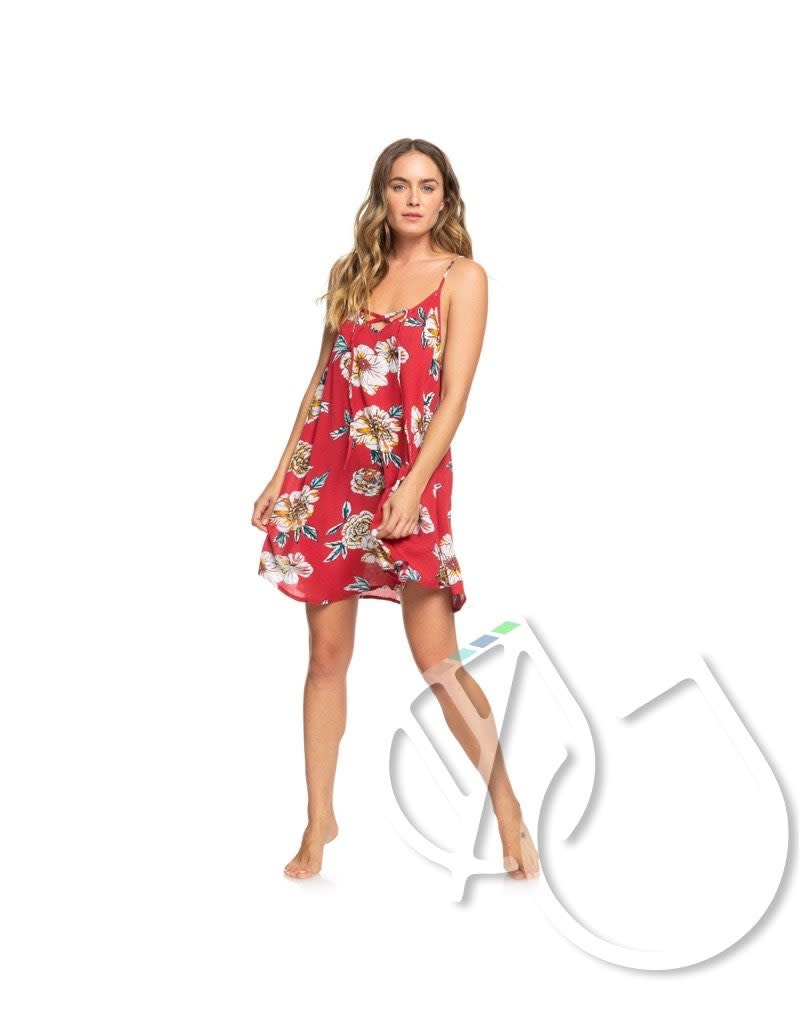 Roxy Roxy Printed Beach Classics Strappy Dress -DEEP CLARET SWIM SEPT (rqh8)