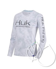 HUK LADIES CAMO ICON X LS SHIRT