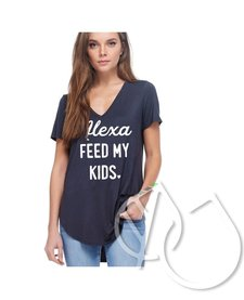 ALEXA FEED MY KIDS GRAPHIC TOP F311-0693