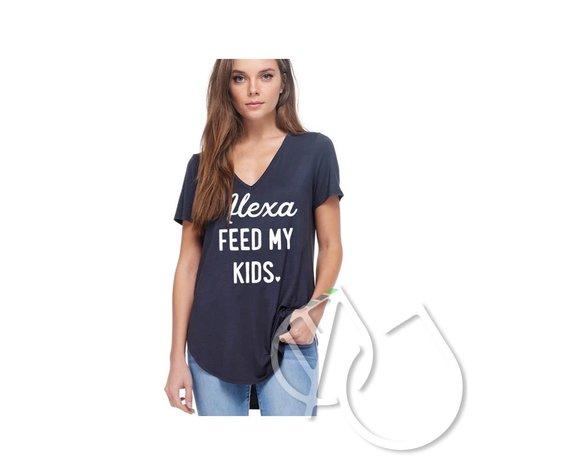zutter ALEXA FEED MY KIDS GRAPHIC TOP F311-0693
