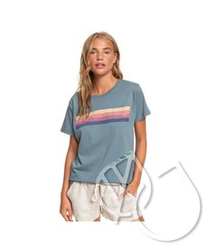 Roxy Retro Stripe Boyfriend Tee
