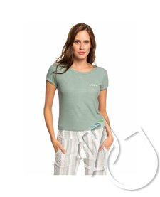 Roxy Frozen Day Rib Knit Short Sleeve Top