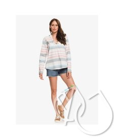 Roxy View Across The Hills Hooded Long Sleeve Poncho Shirt