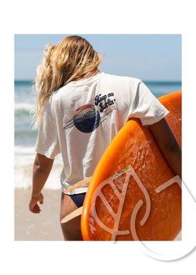 Rip Curl Rip Curl Keep On Surfin Crop Tee -Bone