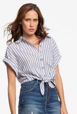 Roxy Roxy Full Time Dream Short Sleeve Tie-Front Shirt