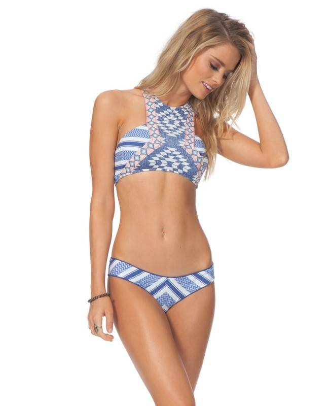 Rip Curl Rip Curl Del Sol High Neck Bikini Top Blue