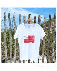 30A Women's USA Flag Recycled Tee