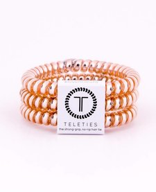 Teleties Small Hair Ties 3 pack Champagne Gold