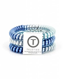 Teleties Small Hair Ties 3 pack Blue Sapphire