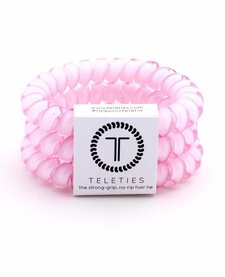 Teleties Large Hair Ties 3 pack Rose Water Pink