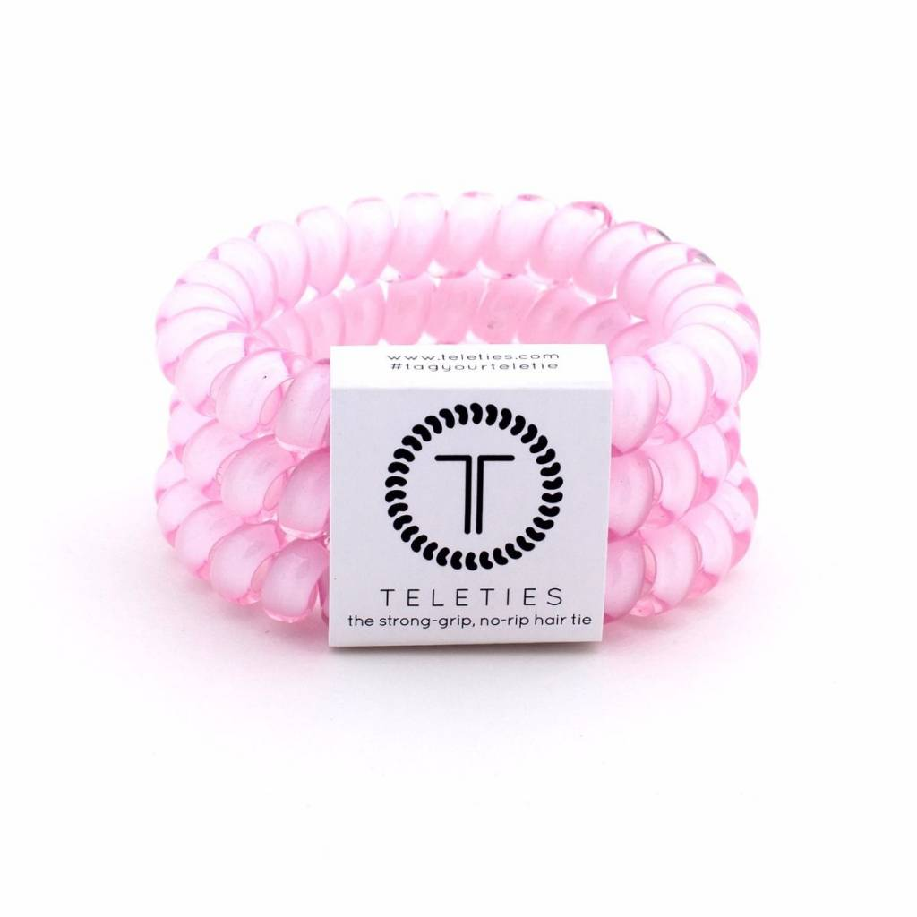 Teleties Large Hair Ties 3 pack Rose Water Pink - Leaf in Creek ... ec30c331f4a