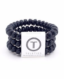 Teleties Large Hair Ties 3 pack Jet Black