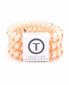 Teleties Large Hair Ties 3 pack Almond Beige