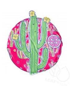 Simply Southern Round Beach Towel Cactus