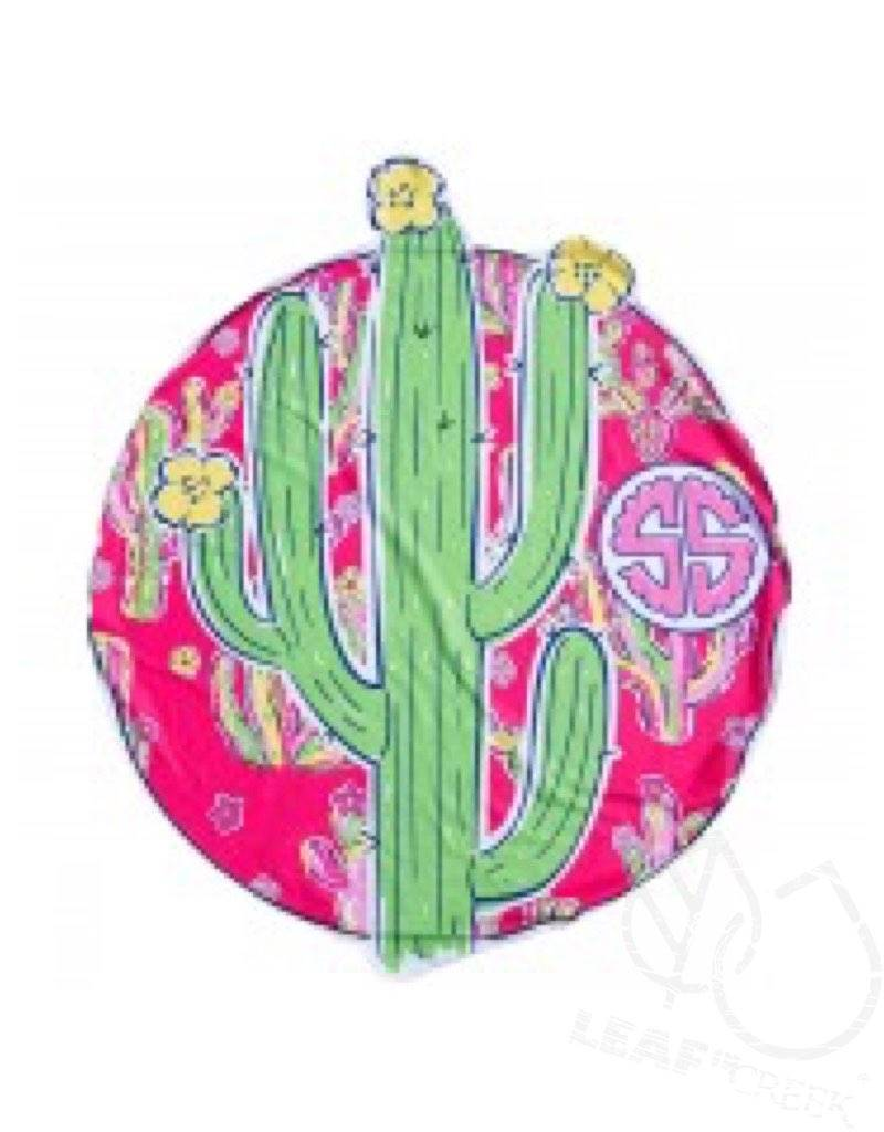 Simply Southern Simply Southern Round Beach Towel Cactus