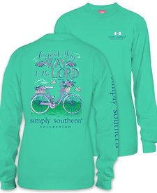 Simply Southern To the Lord Bike Long Sleeve Tee