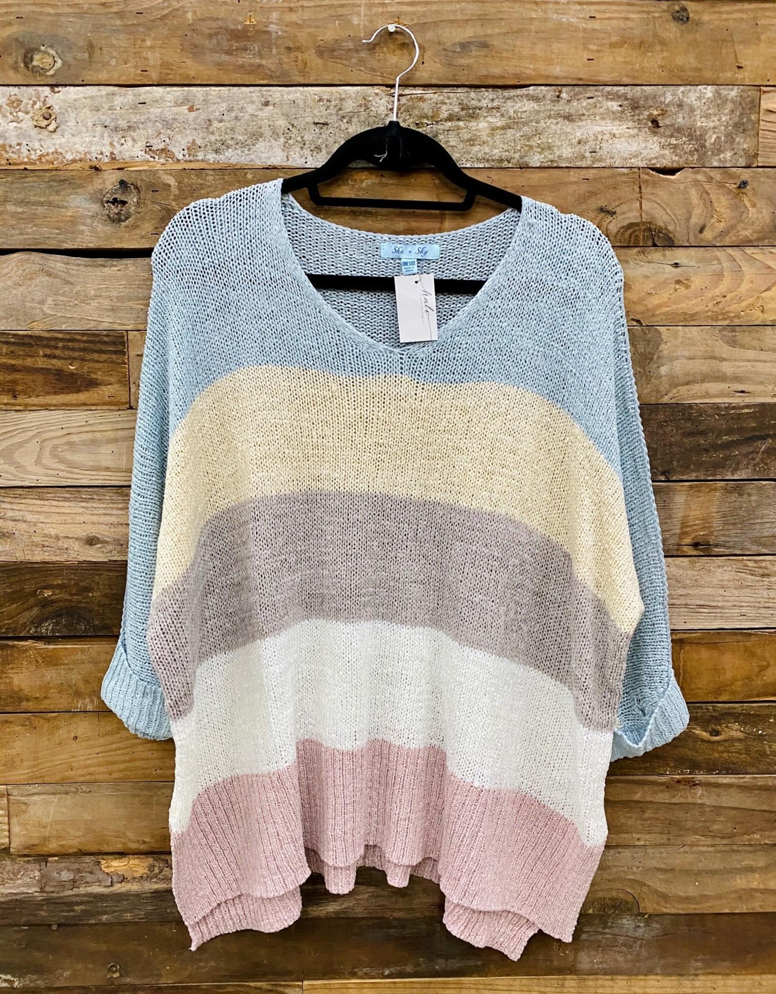 Halo Color Block Knit