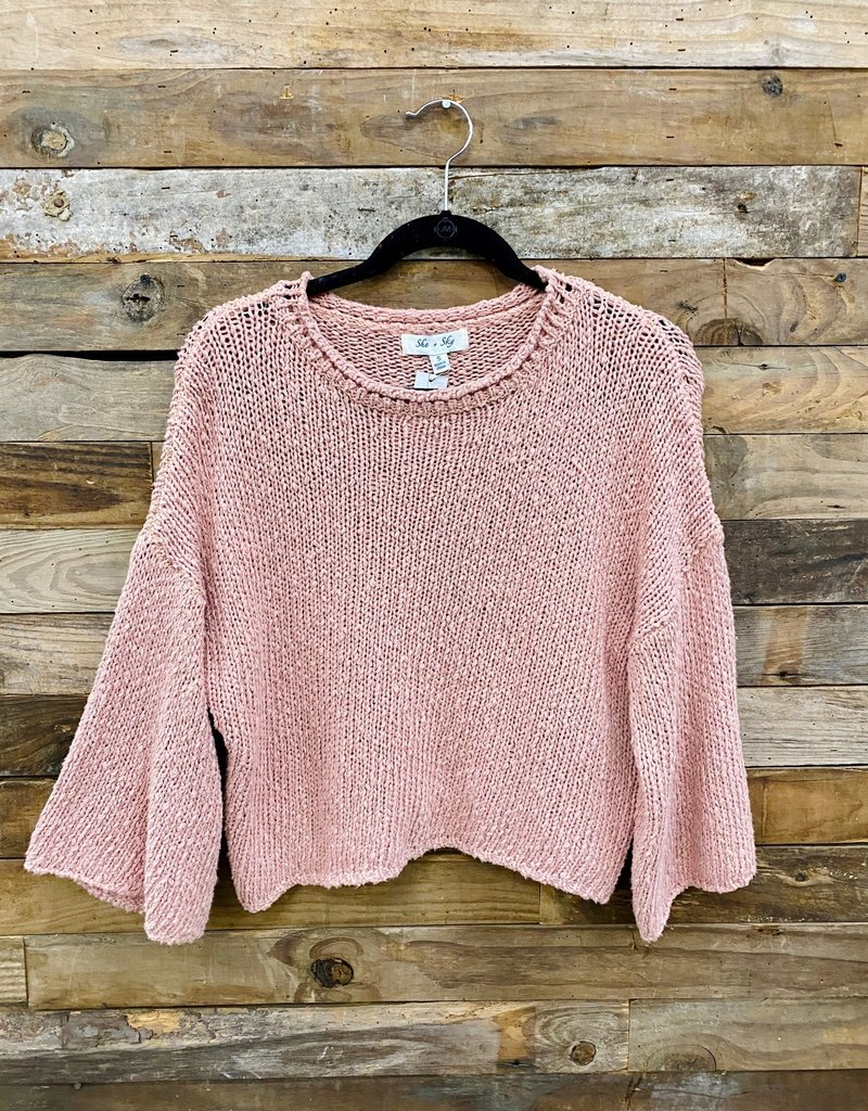 Halo Blush Crop Knit