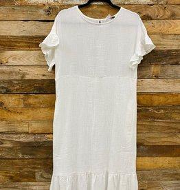 Halo Gauze Midi Dress