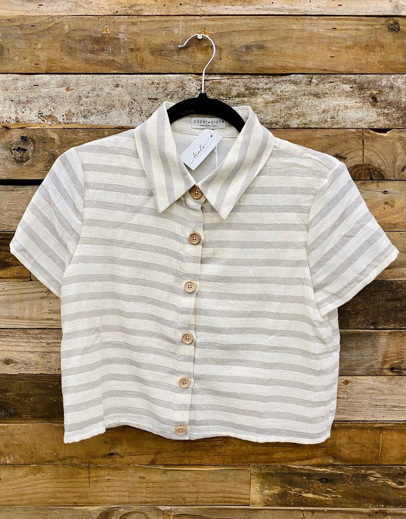 Halo Striped Button Down