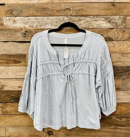 Halo Blue Flowy Top