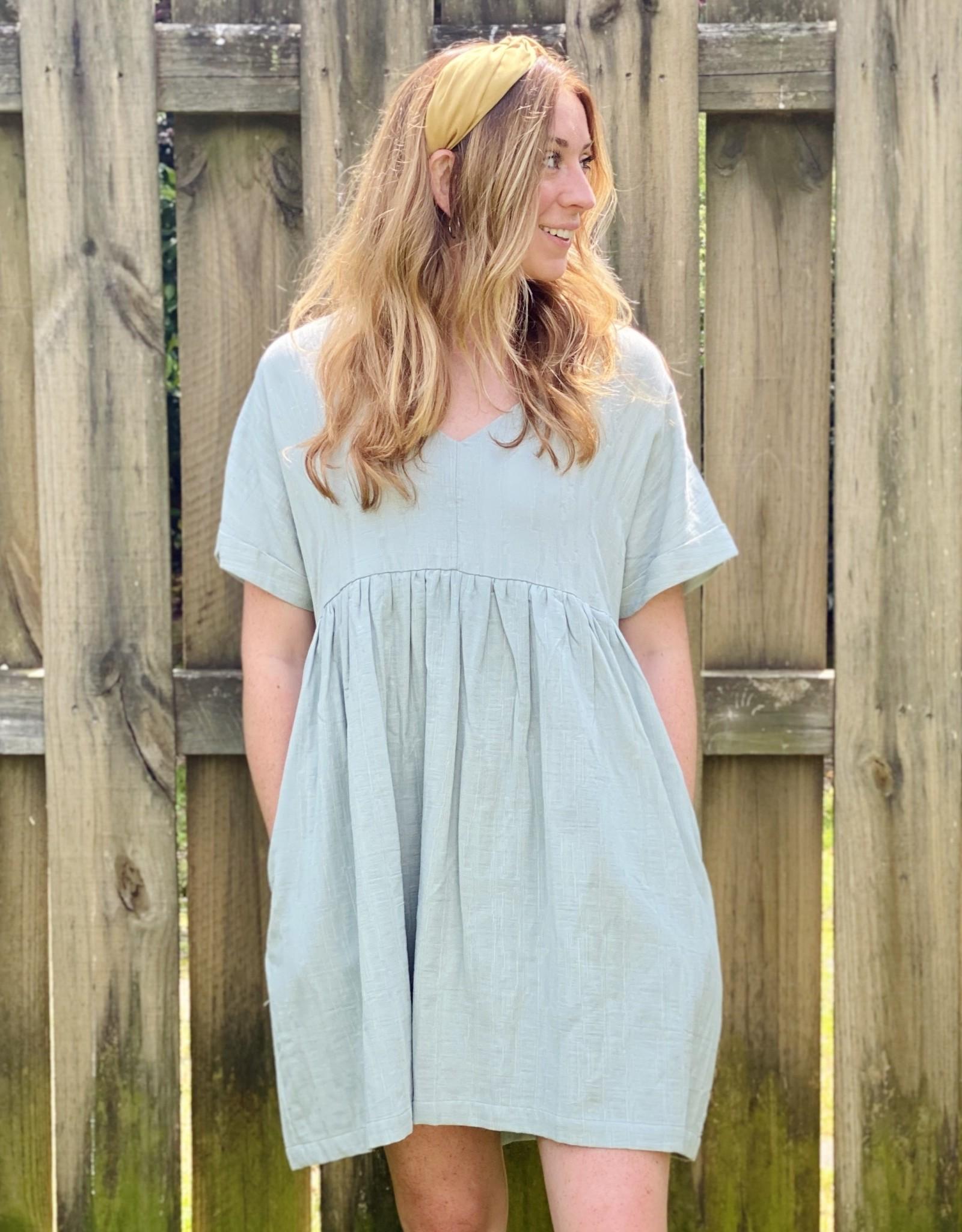 Halo Sage Pocket Dress Large