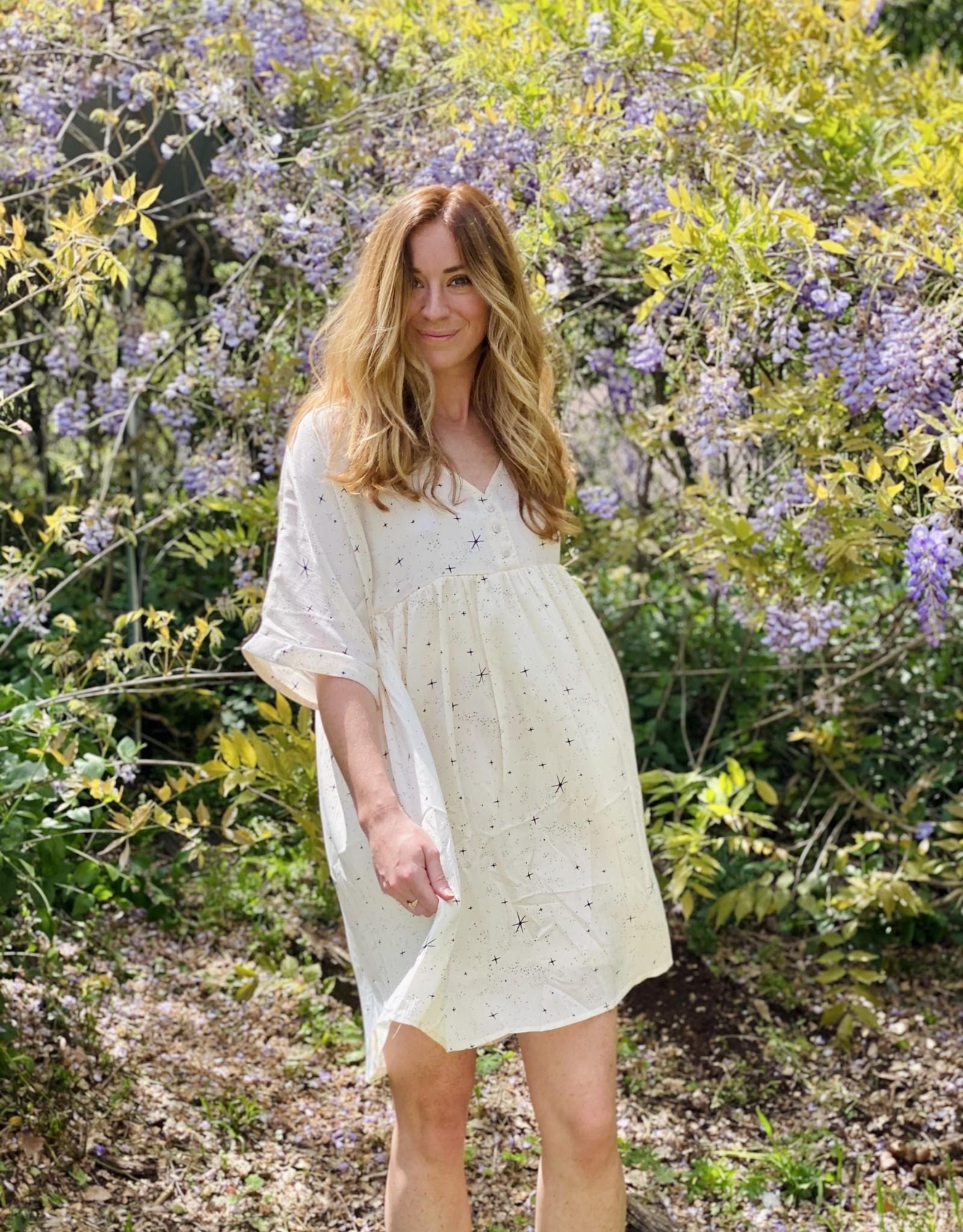 Halo Cream Sparkle Dress Medium