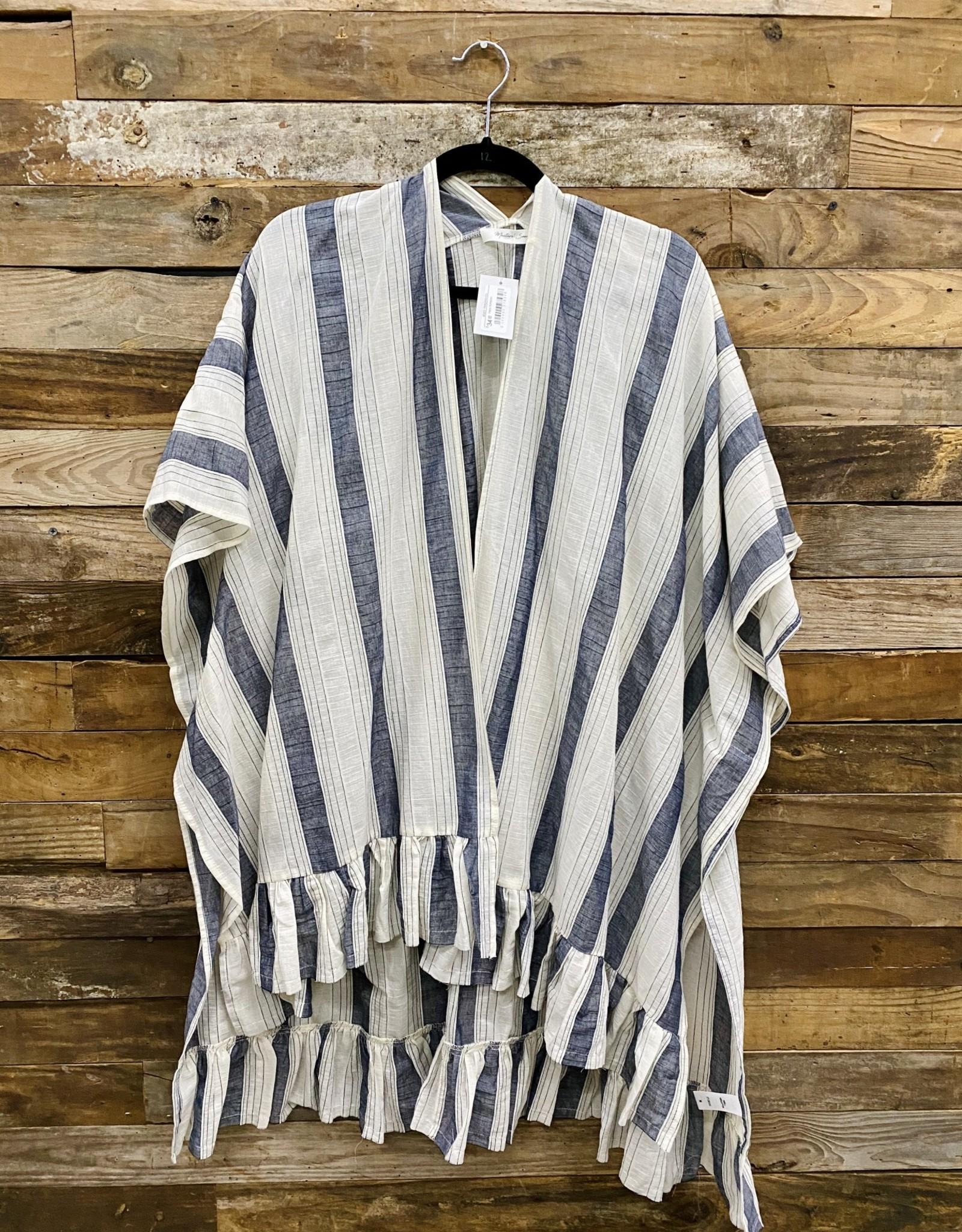 Halo Navy Stripe Kimono