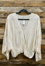 Halo High-Low Striped Top