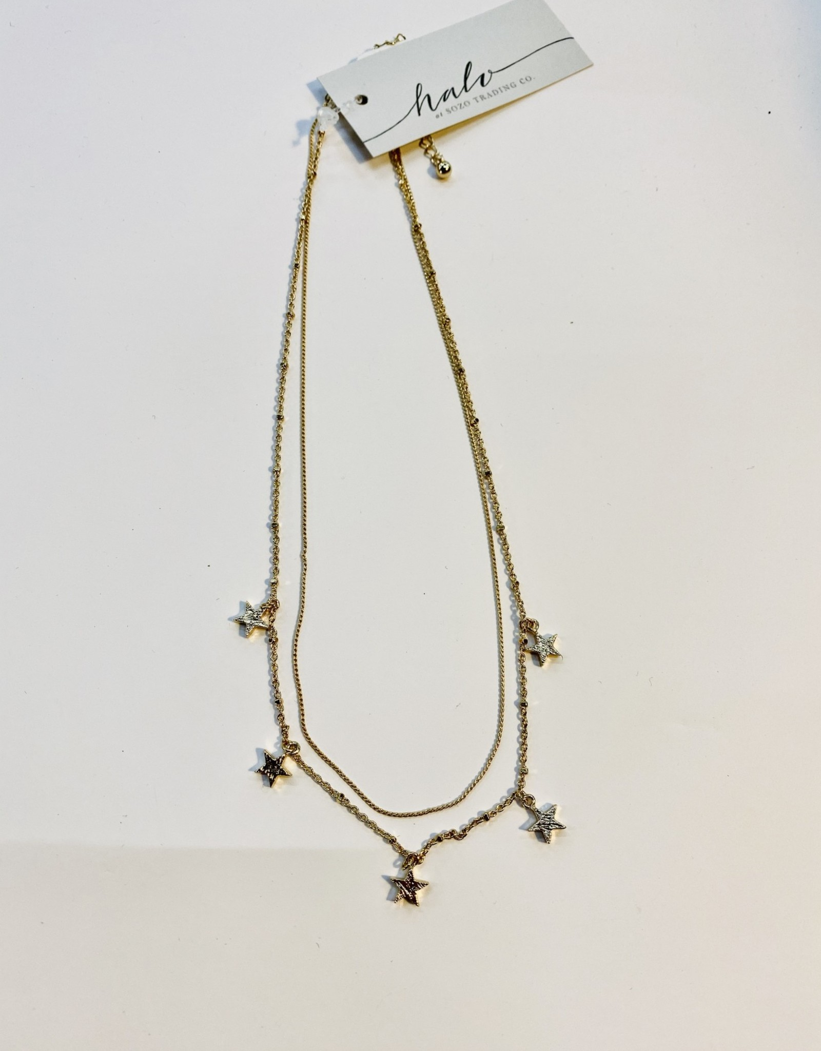 Halo Gold Star Necklace
