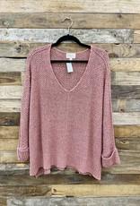 Halo Blush Sweater OS