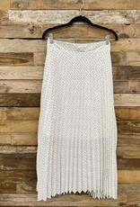 Halo Ivory Midi Skirt