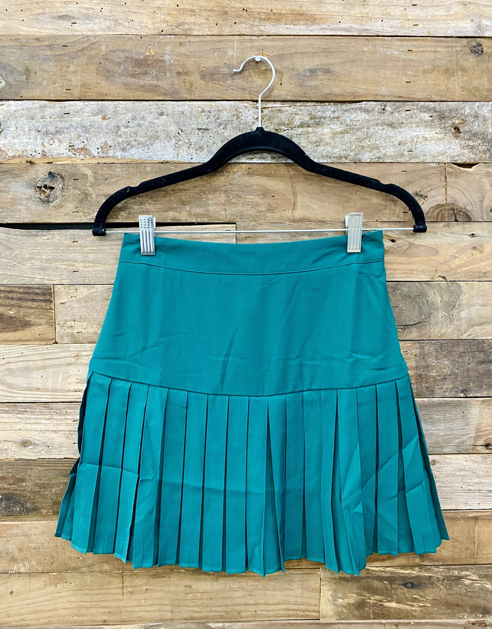 Halo Green Pleated Skirt