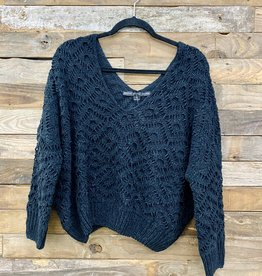 Halo Black Knit Sweater