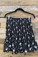 Halo Black Pleated Skirt